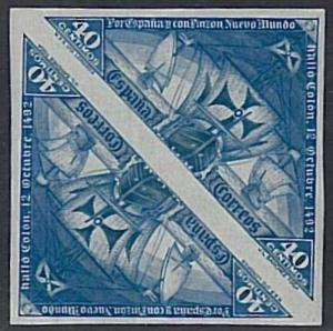 SPAIN - POSTAL HISTORY - EDIFIL # 541 S MNH - Very nice pair!