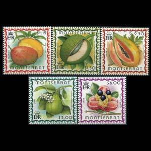 MONTSERRAT 1999 - Scott# 984-8 Fruits Set of 5 NH