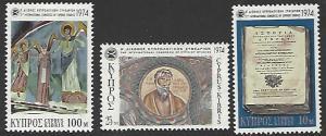 Cyprus #419-421 MNH Set of 3