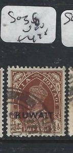 KUWAIT   (PP2704B) ON  INDIA KGVI  1/2A  SG 36  VFU