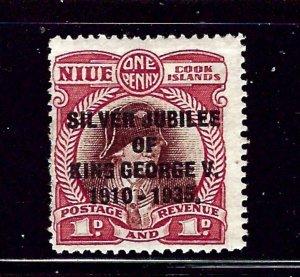 Niue 67 MH 1935 KGV Silver Jubilee        (RR)
