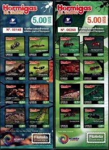 HERRICKSTAMP NEW ISSUES ECUADOR Sc.# 2196-97 Ants Self-Adhesive Booklets