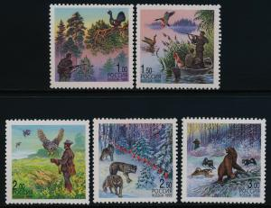 Russia 6490-4 MNH Hunting, Birds, Animals, Bear, Duck, Wolves