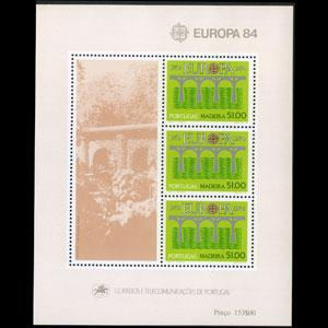 PORTUGAL-MADEIRA 1984 - Scott# 94a S/S Europa-Bridge NH