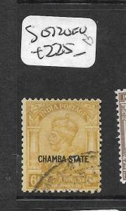 INDIA CHAMBA  (P2409B) KGV 6A  SG 72   VFU  SCARCE