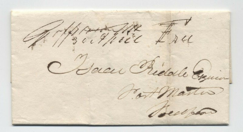 1836 Goffstown NH manuscript stampless folded letter [5249.63]