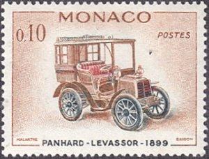 Monaco # 490 hinged ~ 10¢ Automobile