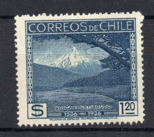 Chile 1936 Anniversary Issue Mint hinged Shade of $1.20 NW-12997