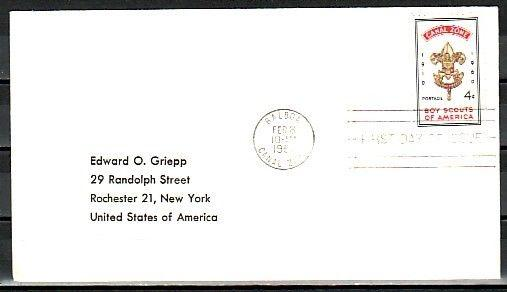 Canal Zone, Scott cat. 151. USA Boy Scout Anniversary. Plain First day cover.