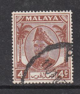 Malaya Selangor 1949 Sc 83 4c Used