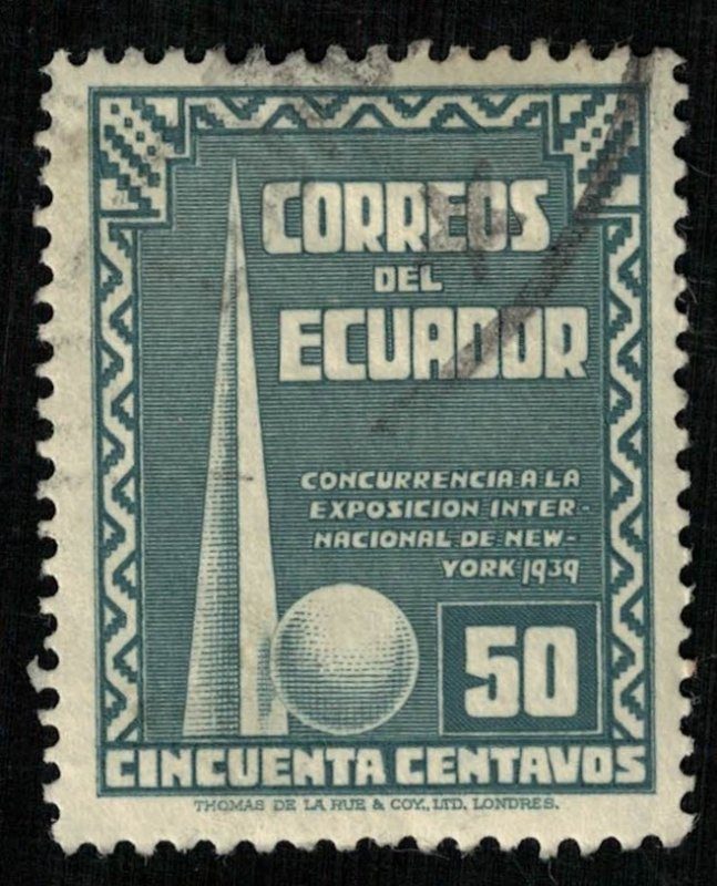 1939, New York World's Fair, Ecuador, 50c, YT #383 (RT-243)