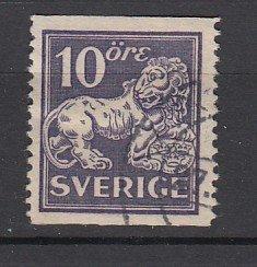 J25620 JLstamps 1920-6 sweden used #138 lion wmk 181