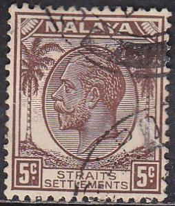 Straights Settlement 221 Hinged Used 1936 King George V