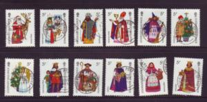 Guernsey Sc 319a-i 1985 Christmas stamps used