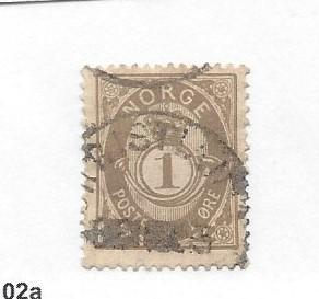 Norway, 22, Post Horn and Crown Single, **Used** #5