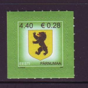 Estonia Sc 536 2006 Arms stamp NH Euro added