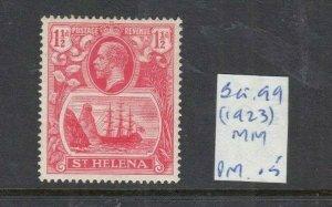ST HELENA 1922 1.5D ROSE -RED MINT SG99