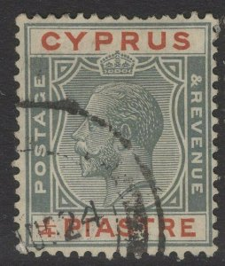 CYPRUS SG103 1924 ¼pi GREY & CHESTNUT USED