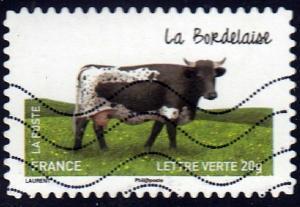 France #4578 Cattle Breed, La Bordelaise, Animals. Used