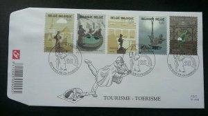 Belgium Tourism Popular Statues 2003 (stamp FDC)