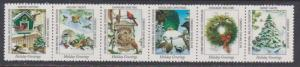 National Wildlife Federation Strip of 6 Diff 1998 Wildlife Stamps  I Combine S/H
