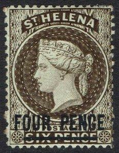 ST HELENA 1884 QV FOUR PENCE