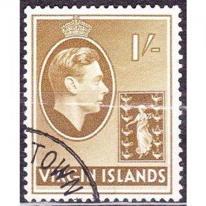 BRITISH VIRGIN ISLANDS 1938 KGVI 1/- Olive-Brown SG117 FU