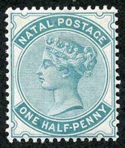 Natal SG96 1880 1/2d Blue-green wmk Crown CC M/M Cat 30 pounds