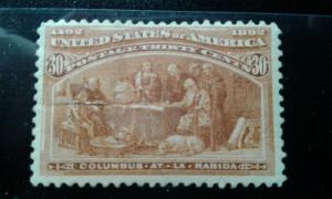 US #239 MNH major tear e191.3412