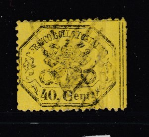 Papal States a used perf 40c from 1868