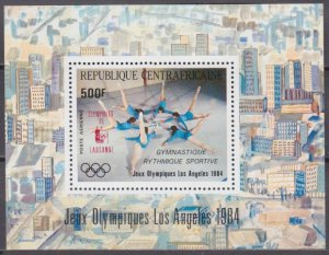 1985 Central African 1102/B318 Overprint # 1018/B275 Los Angeles