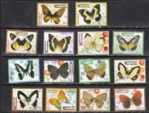 Micronesia 2006 butterflies insects set MNH