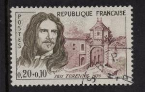 France   #B342  used  1960  Red Cross 20c  de la Tour D'Auvergne