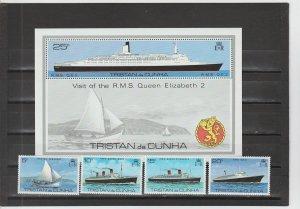 Tristan da Cunha  Scott#  255-259  MNH  (1979 Ships)