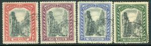 BAHAMAS-1921-8  A fine used set to 3/- Sg 111-114