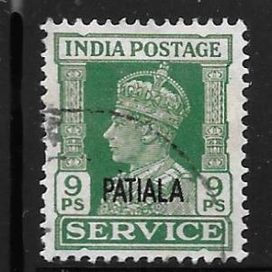 India Patiala O66: 9 George VI, used, F-VF