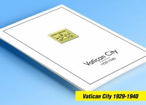 COLOR PRINTED VATICAN CITY [CLASS.] 1929-1940 STAMP ALBUM PAGES (20 ill. pages)
