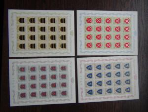 Liechtenstein 1965 Arms 2nd Issue in Complete sheets of 20 MNH