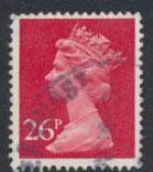 GB QE II Machin - SG X971   Used  26p Phosphorised paper