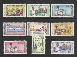 Zanzibar #335-43 mnh cv $7.00