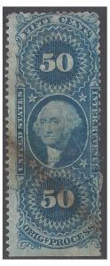 Scott R60c 50c US Internal Revenue - Original Process 1862-1871 Used