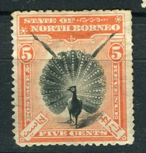 NORTH BORNEO; 1897 early pictorial issue fine used 5c. value
