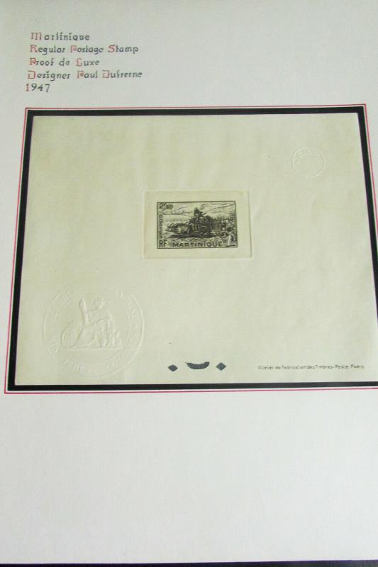 Martinique 1947 Deluxe Proof Stamp Sheet