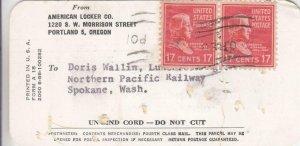 194X, Locker Tag W/Prexies: Portland, OR, See Remark (33857)