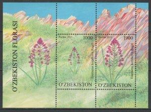 Uzbekistan 2011 Flowers MNH Block
