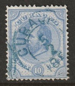 Netherlands Antilles 1881 Sc 4 used blue cancel