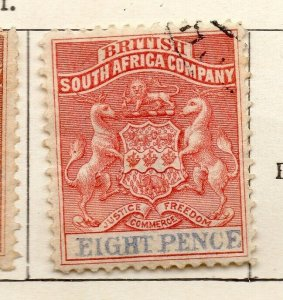 Rhodesia 1891-94 Early Issue Fine Used 8d. NW-11459