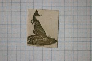 Kangaroo gold ink official postal envelope embossed seal emblem co ad / govt DM