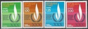 Haiti  719, C477-9  MNH  UN Human Rights  30th Anniversary
