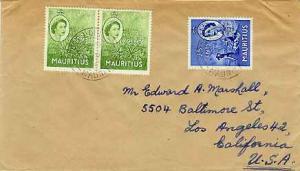 Mauritius 1965 3c QEII Aloe Plant (2) and 25c QEII 'Paul et Virginie' 1965 Po...